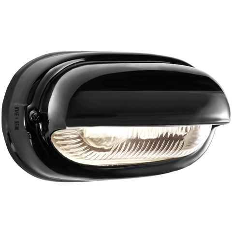 BLACK PORCELAIN BULKHEAD LAMP - BATHROOM / OUTDOOR LIGHTS - DYKE & DEAN  - Homewares | Lighting | Modern Home Furnishings