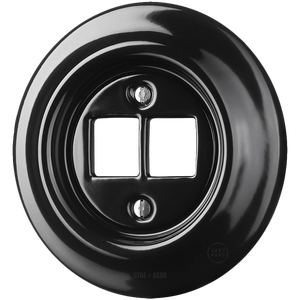 PORCELAIN WALL SOCKET BLACK PC/USB