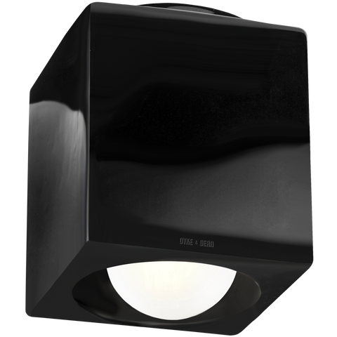 BLACK PORCELAIN CUBE CEILING DOWNLIGHT E27