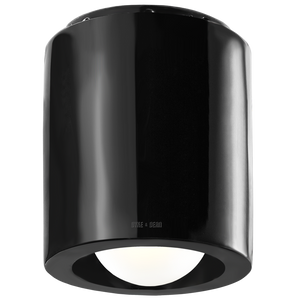 BLACK PORCELAIN CEILING DOWNLIGHT E27