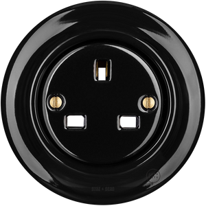 PORCELAIN WALL SOCKET BLACK UK