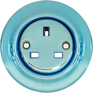 PORCELAIN WALL SOCKET SKY BLUE UK