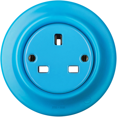 PORCELAIN WALL SOCKET AZURE UK