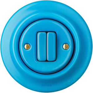 PORCELAIN WALL SWITCH AZURE DOUBLE