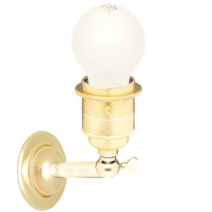 BRASS E27 WALL ARM LIGHTS
