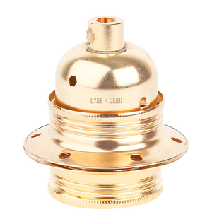 BRASS PLATED E27 BULB HOLDER
