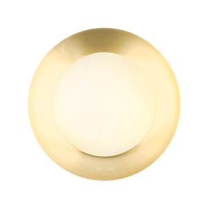 BRASS GLOBE REFLECTOR LAMP 200mm