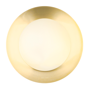 BRASS GLOBE REFLECTOR LAMP 390mm