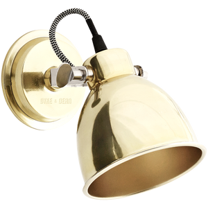BRASS ADJUSTABLE WALL LAMP