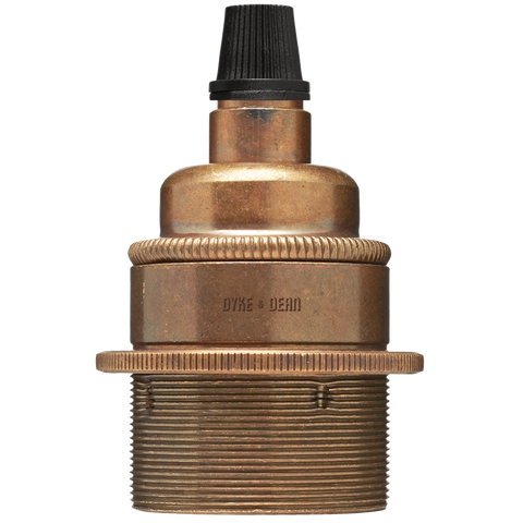 BRONZE EFFECT E27 METAL BULB HOLDER
