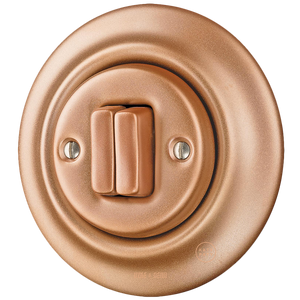 PORCELAIN WALL SWITCH COPPER DOUBLE