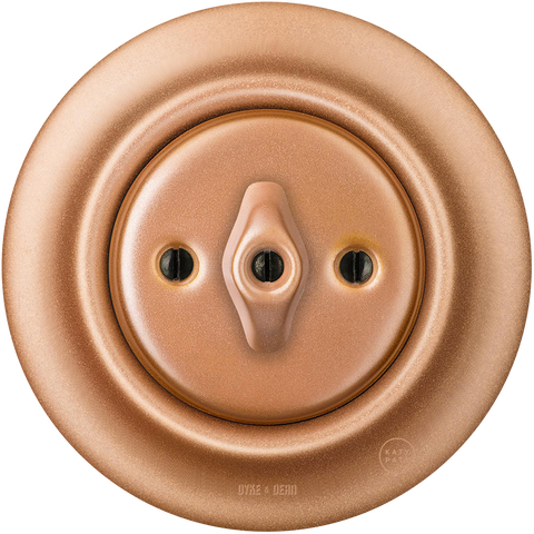 PORCELAIN WALL SWITCH COPPER ROTARY