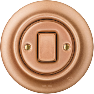 PORCELAIN WALL SWITCH COPPER FAT BUTTON