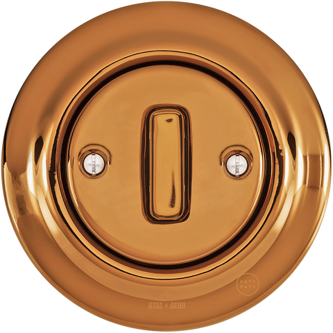 PORCELAIN WALL LIGHT SWITCH BRONZE SLIM BUTTON - PORCELAIN WALL SWITCHES - DYKE & DEAN  - Homewares | Lighting | Modern Home Furnishings