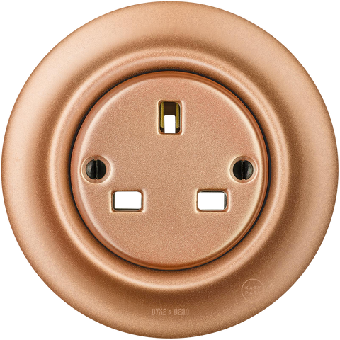 PORCELAIN WALL SOCKET COPPER UK