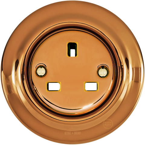 PORCELAIN WALL SOCKET BRONZE UK