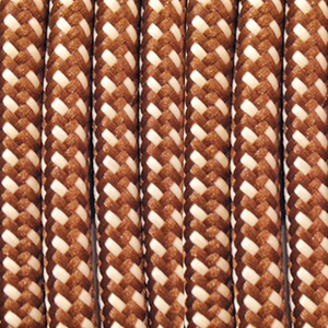 BROWN & CREAM FLECKED ROUND FABRIC CABLE