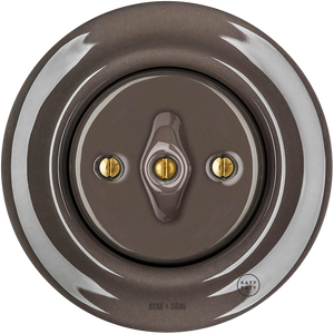 PORCELAIN WALL SWITCH BROWN ROTARY