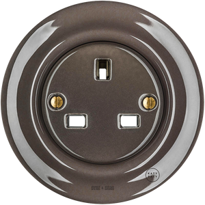 PORCELAIN WALL SOCKET BROWN UK