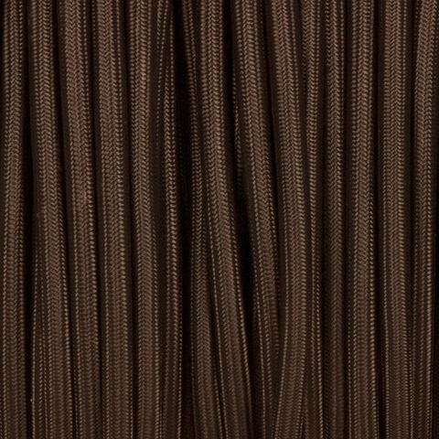 DARK BROWN ROUND FABRIC CABLE
