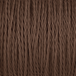 DARK BROWN TWISTED FABRIC CABLE