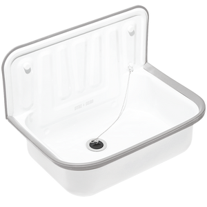 DYKE & DEAN ENAMEL BUCKET SINK GREY RIM