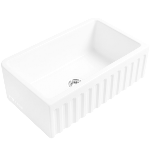 CERAMIC RIBBED BUTLER SINK - KITCHENWARE - DYKE & DEAN  - Homewares | Lighting | Modern Home Furnishings