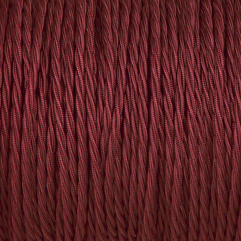 BURGUNDY TWISTED FABRIC CABLE - FABRIC CABLE - DYKE & DEAN  - Homewares | Lighting | Modern Home Furnishings