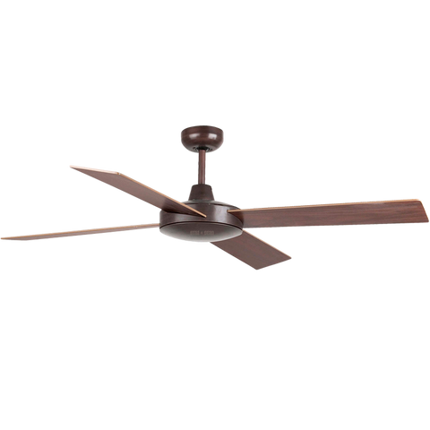 SPANISH 4 BLADE BROWN CEILING FAN