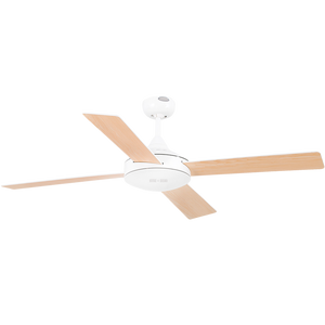 SPANISH 4 BLADE WHITE WOOD CEILING FAN