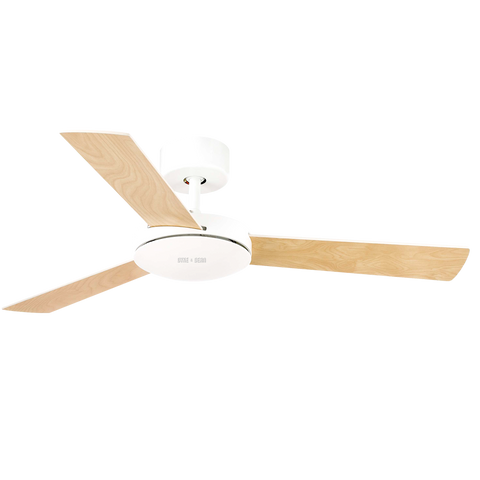SPANISH SMALL WHITE WOOD CEILING FAN