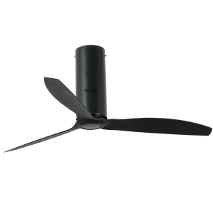 TUBE MATT BLACK CEILING FAN