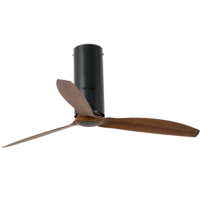 TUBE MATT BLACK WOOD CEILING FAN