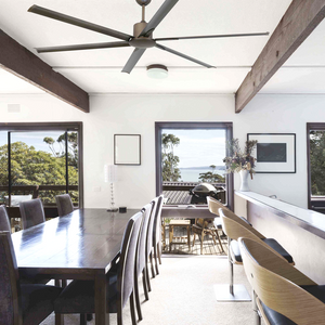 LARGE BROWN REMOTE CEILING FAN - FANS - DYKE & DEAN  - Homewares | Lighting | Modern Home Furnishings