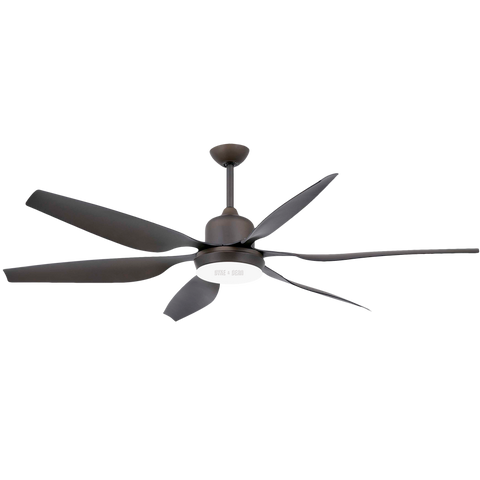 MULTI BLADE LED BROWN CEILING FAN