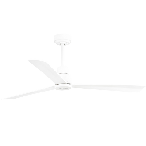 STEPPED WHITE REMOTE CEILING FAN