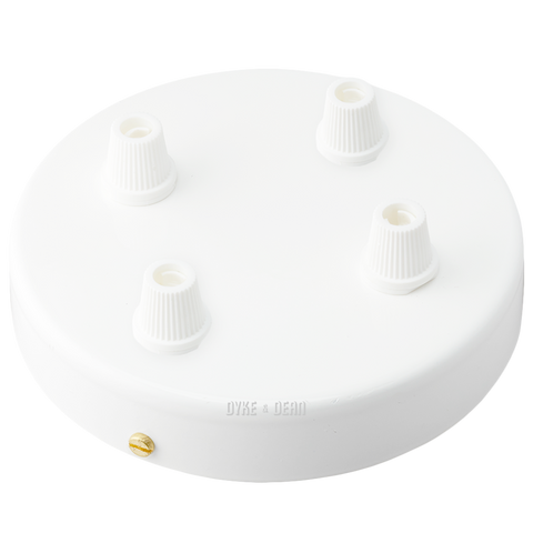 WHITE 4 WAY CABLE CEILING ROSE
