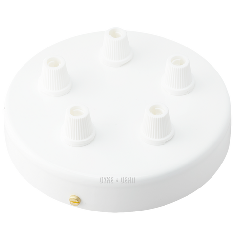 WHITE 5 WAY CABLE CEILING ROSE