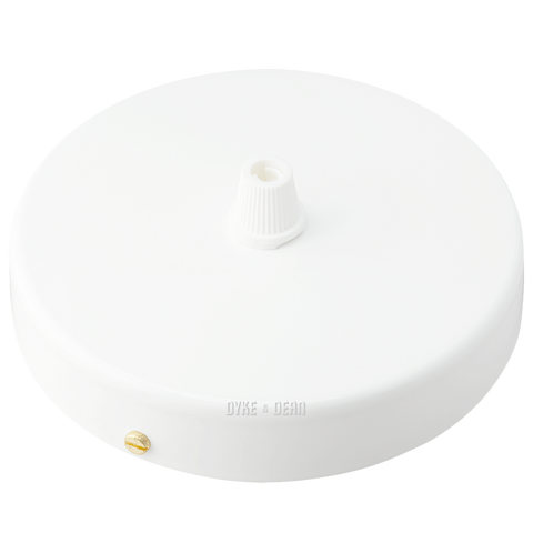 WHITE SINGLE CABLE CEILING ROSE