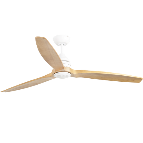 SOLID WOOD WHITE LED CEILING FAN