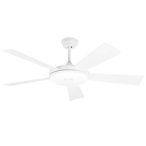 REMOTE LED WHITE 5 BLADE CEILING FAN