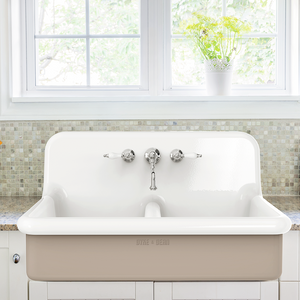 CERAMIC DOUBLE SPLASH BACK SINK