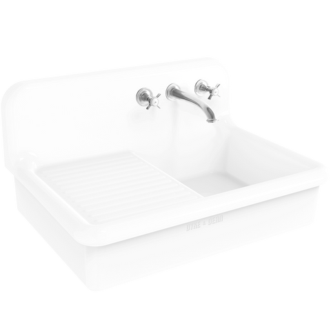CERAMIC DRAINBOARD SPLASH BACK SINK - KITCHENWARE - DYKE & DEAN  - Homewares | Lighting | Modern Home Furnishings