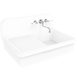 CERAMIC DRAINBOARD SPLASH BACK SINK