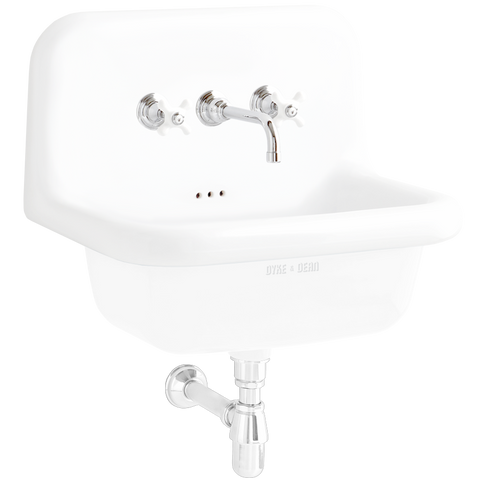 CERAMIC MOUNTED MEDIUM SINK WHITE