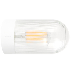 WHITE CERAMIC REARWIRED WATERPROOF LAMPS