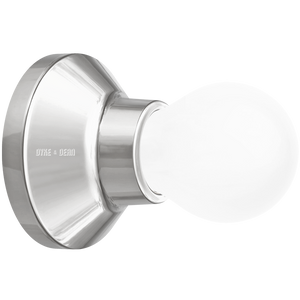 CHROME CERAMIC WALL & CEILING LAMP