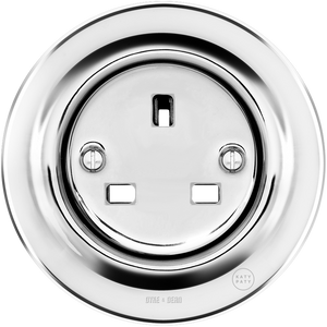 PORCELAIN WALL SOCKET CHROME UK