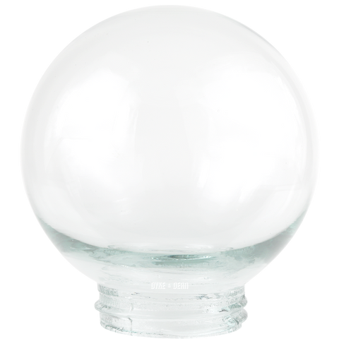 CAST GLOBE CLEAR GLASS 85mm