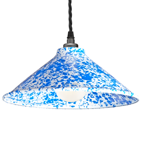DYKE & DEAN SPLATTERWARE SHADE BLUE